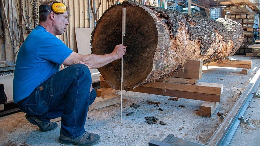 The maximum log diameter for WM1000 is 1700 mm