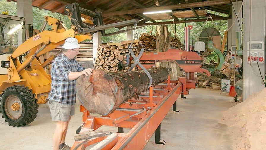 They operate Wood-Mizer LT20 sawmill